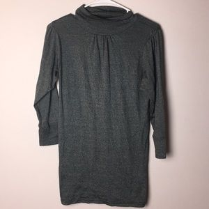 Michael Stars shimmer turtle neck top 3/4 sleeves